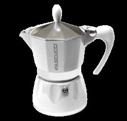 Caffettiera weiß 3 Tassen