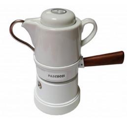 Caffettiera Goccia weiß 3 Tassen